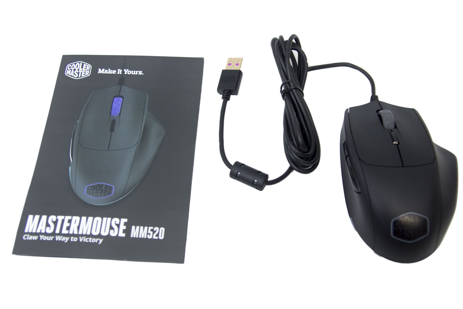 bf07dd393d5 First, let's take a look at the MasterMouse MM520. Upon opening the  packaging, there are only the basics; the mouse and a user guide.