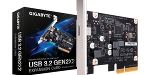 Gigabyte introduces world's first USB 3.2 Gen2x2 ports PCIe expansion card