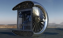 Xbox France shows off a jet engine cross-section styled MSFS PC